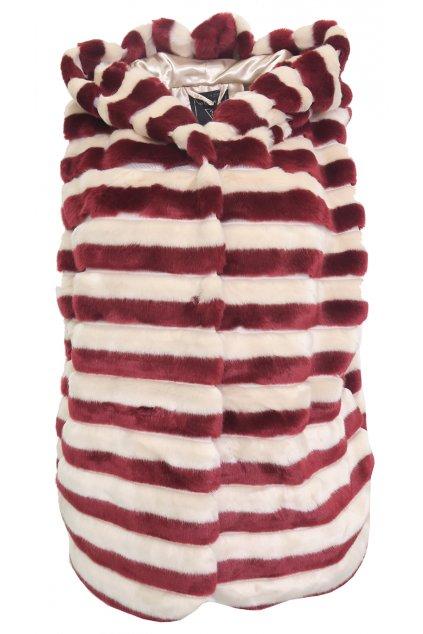 Pruhovaná chlupatá vesta