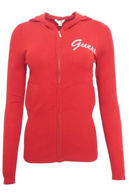 Červený svetr na zip