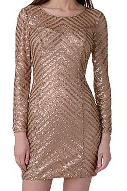 Flitrované měďené šaty Guess