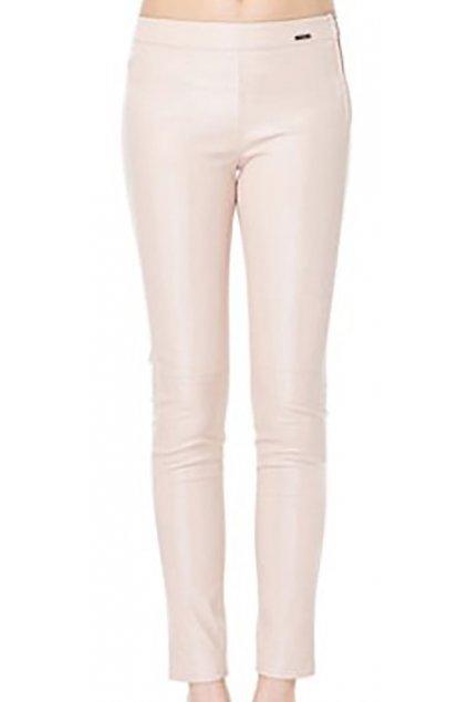 Pudrové lesklé kalhoty GUESS