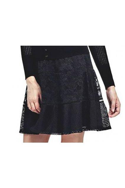 Černá sukně s krajkou Guess