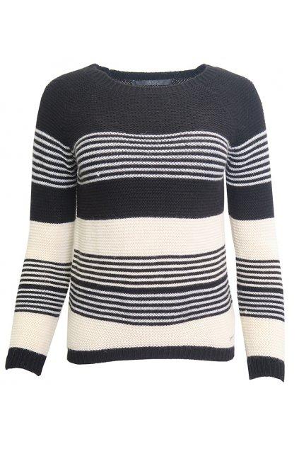 Teplý svetr s bílými proužky Guess