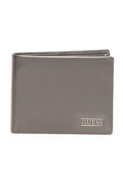 Šedá kožená peněženka pro pány Guess