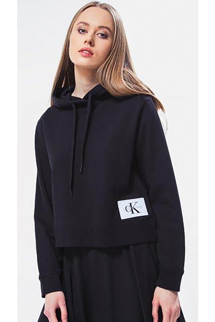 Černá mikina s kapucí Calvin Klein