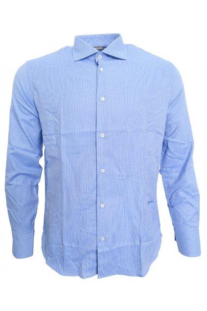 Vzorovaná modrá košile Just Cavalli