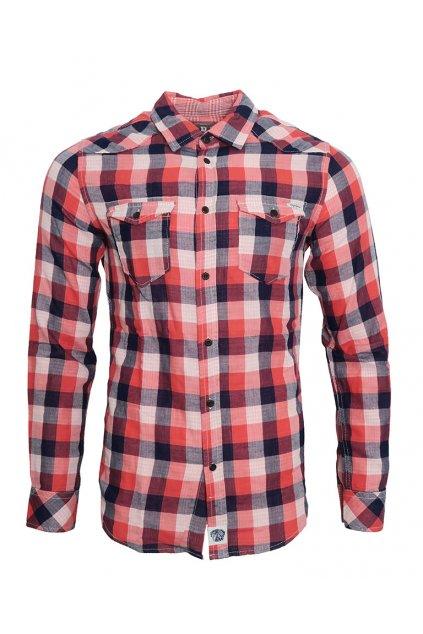 Růžová kostkovaná košile Pepe Jeans