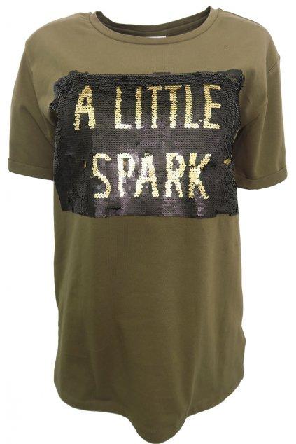 Bavlněné tričko s flitry YAYA