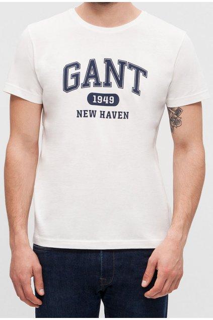 Pánské bílé tričko GANT