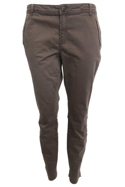 Hnědo-zelené kalhoty YAYA