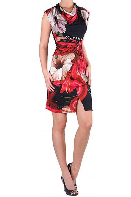 DESIGUAL - Barevné květované šaty