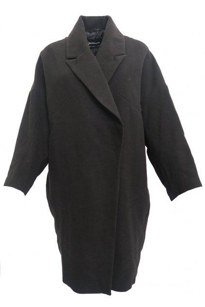 Černý kabát Stradivarius
