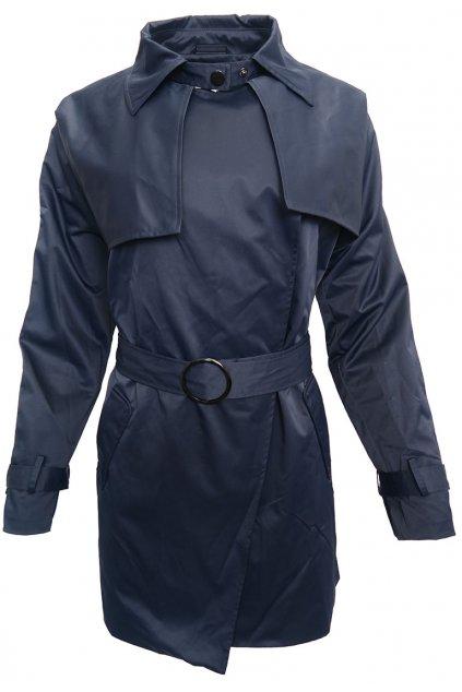 Tmavo-modrý kabátek Stradivarius