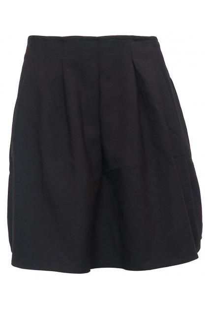 Černá tulipánová sukně Stradivarius