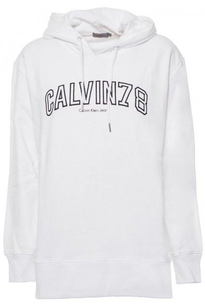 Bílá oversize mikina Calvin Klein