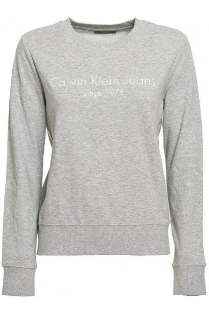 Šedá mikina Calvin Klein