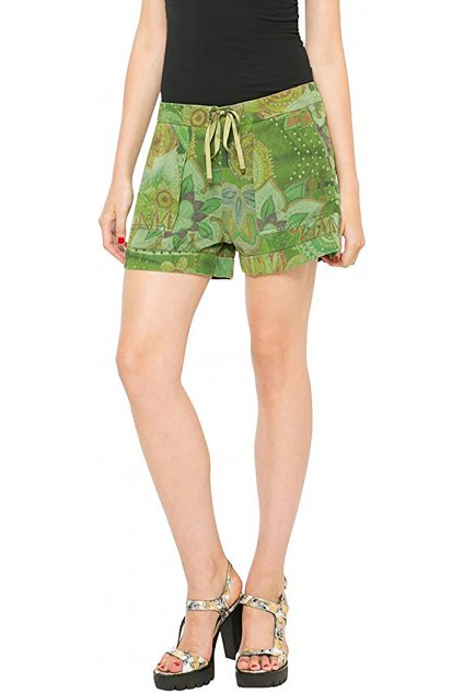 Zelené letní kraťasy Desigual