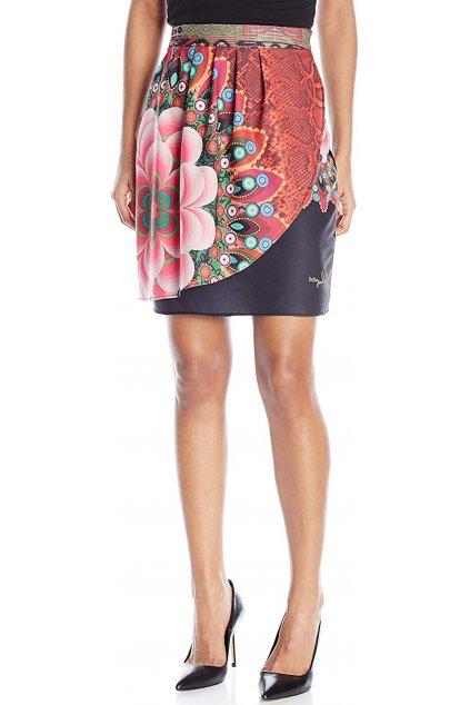 Barevná sukně s květem Desigual