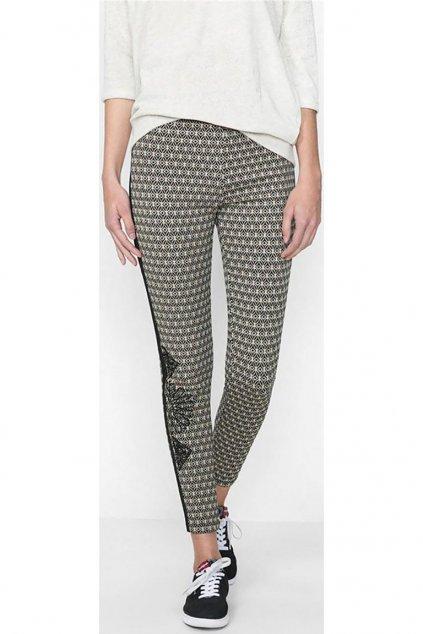 Vzorované legínové kalhoty Desigual