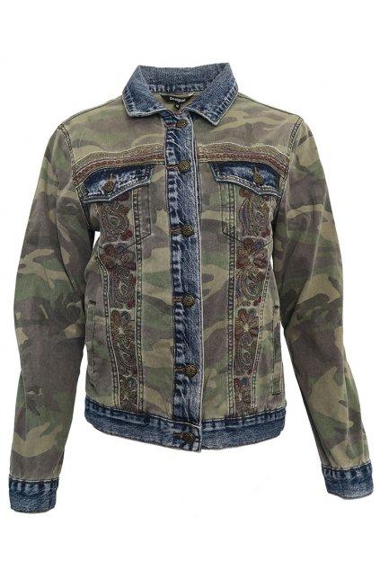 Džínová bunda s maskáčovým vzorem Desigual