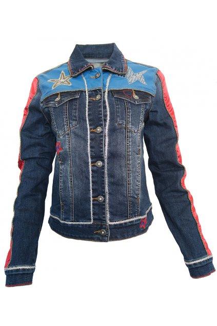 Džínová bunda s hvězdami Desigual