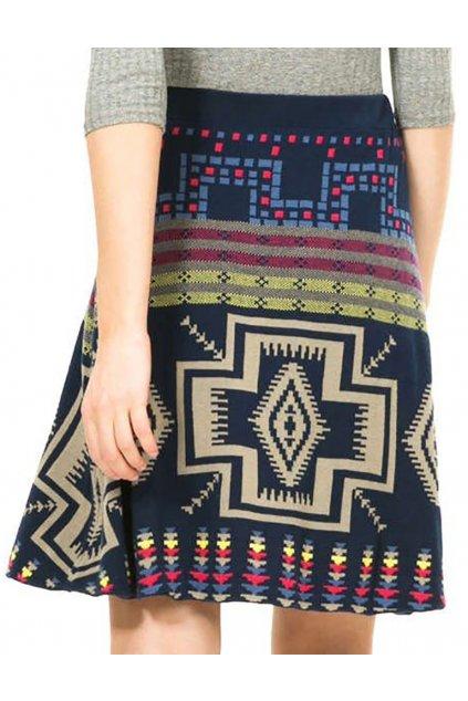 Modrá svetrová sukně Desigual