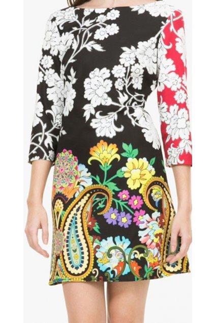 Barevné šaty s květy Desigual