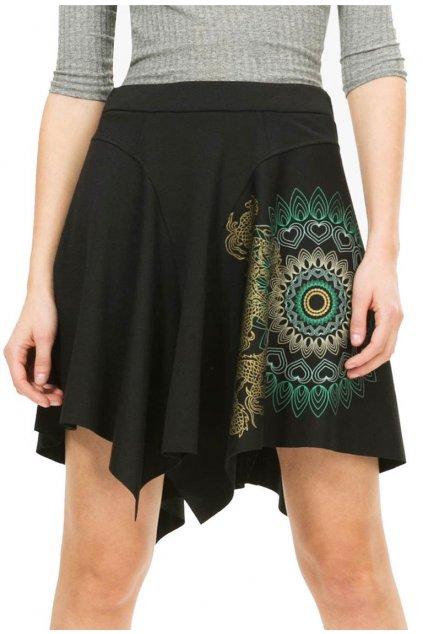 Asymetrická sukně s drakem Desigual