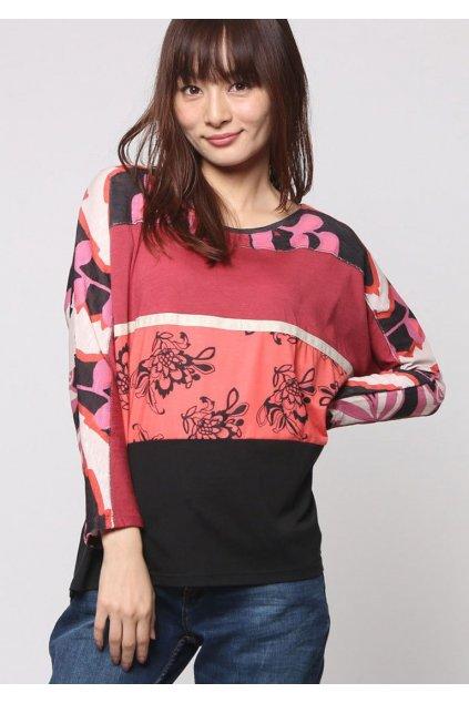 Barevné květované tričko Desigual