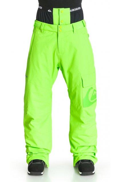 Svítivé pánské lyžařské kalhoty s nápletem v pase Quiksilver