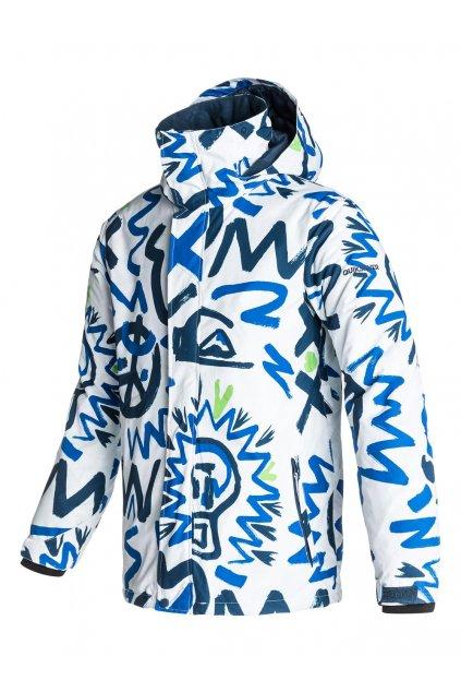 Bílomodrá lyžařská bunda Quiksilver