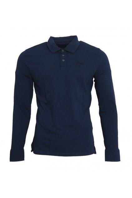 Modré tričko s límečkem Pepe Jeans