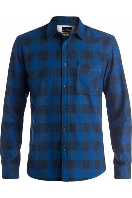 Modrá kostkovaná košile Quiksilver