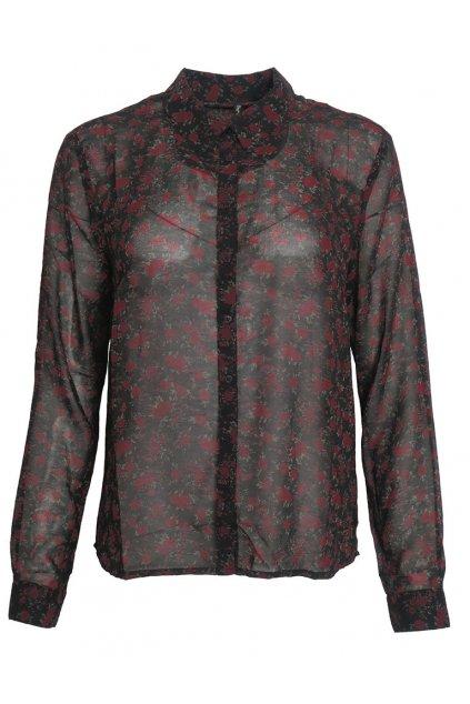 Průhledná košile s růžičkami Pepe Jeans