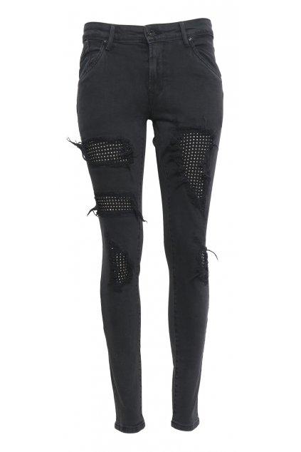 Dámské černé džíny s kamínkama Pepe jeans