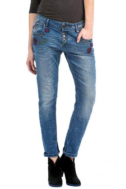 Dámské džíny s výšivkami Desigual
