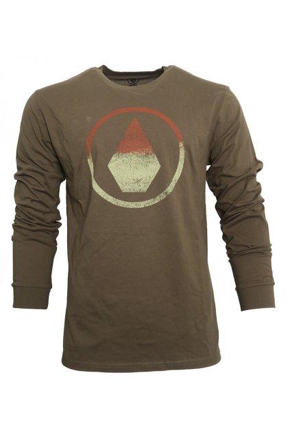 Khaki tričko Volcom