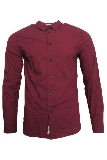 Vínová košile se vzorem Pepe Jeans