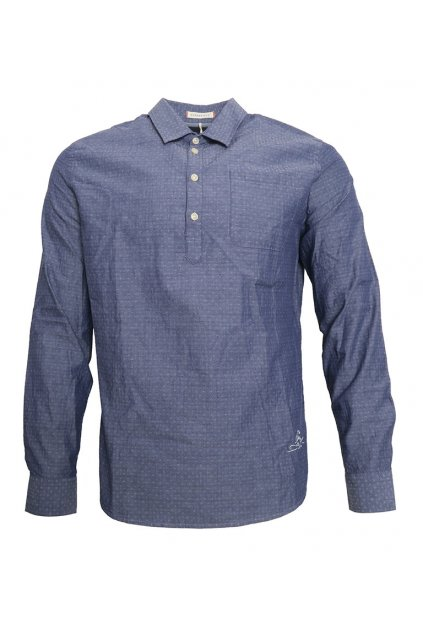Modrá košile s kapsou Pepe Jeans