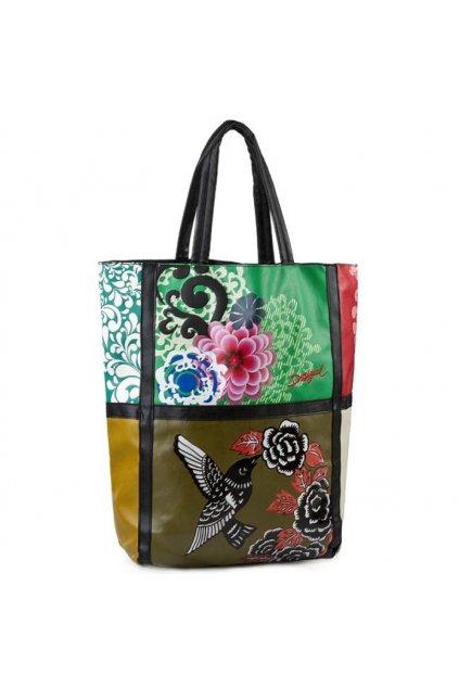 Prostorná kabelka s ptáčkem Desigual