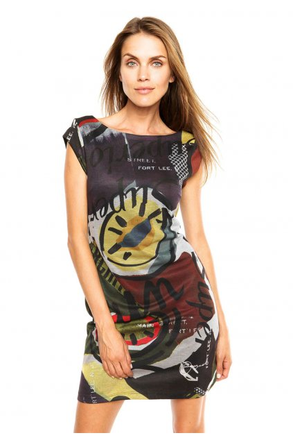 Šaty s různobarevným vzorem Desigual