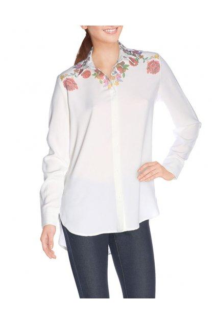 Bílá košile s květinovým vzorem Desigual