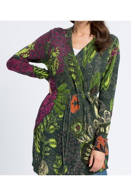 Zelený cardigan s flitry Desigual