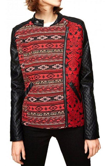 Červená dámská bunda Desigual