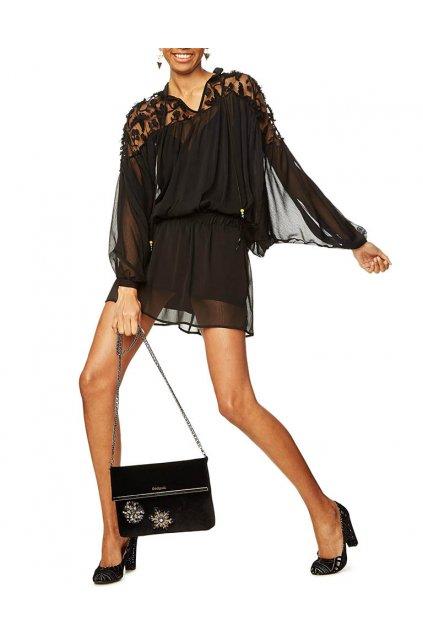 Černá tunika/šaty Desigual