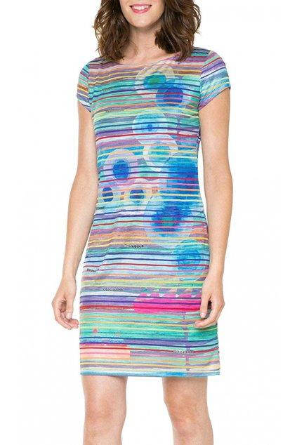 Šaty s barevnými pruhy Desigual