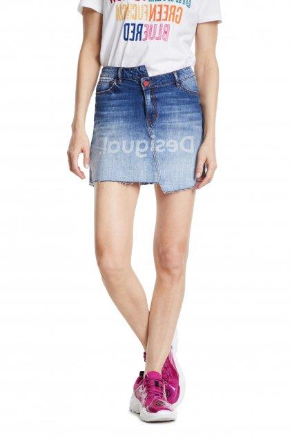 Riflová sukně Desigual 20SWFD05