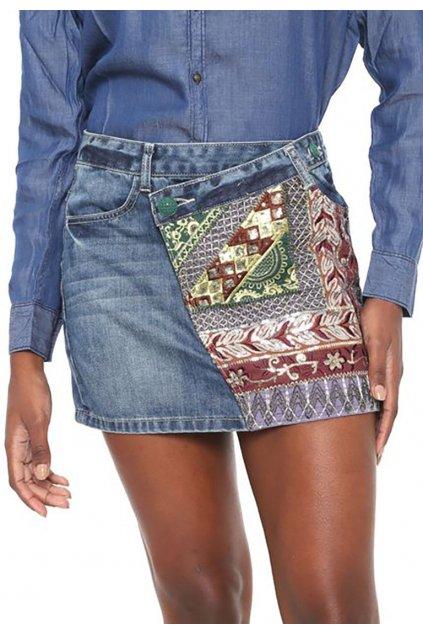 Džínová zdobená sukně Desigual