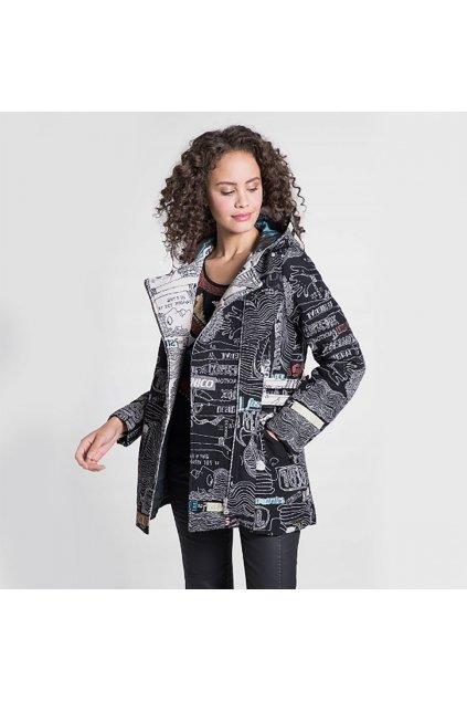 Černý vzorovaný kabátek Desigual