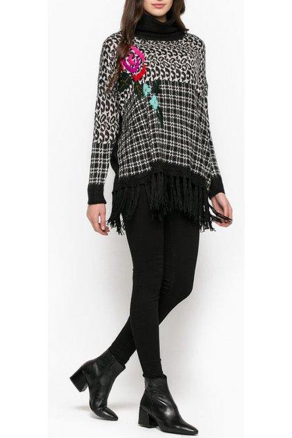 Pletený svetr s rolákem Desigual