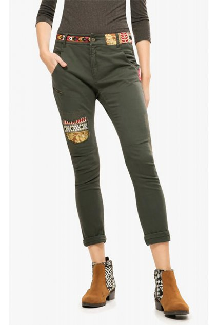Khaki kalhoty Exotic Desigual